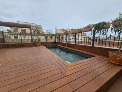 Exterpark Magnet Bamboo FSC Natural casa privata Spagna